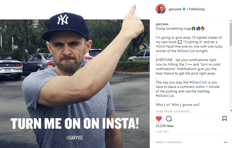 Garyvee Instagram photo #60SecClub