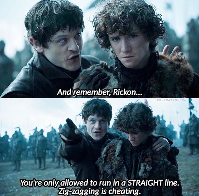 Why didn't Rickon Zig Zag?